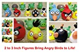 51bm8z1CgaL. SL160  Unique Angry Birds Set of 10 Angry Birds and Angry Pigs 2 to 3 Bath Toys Play Set