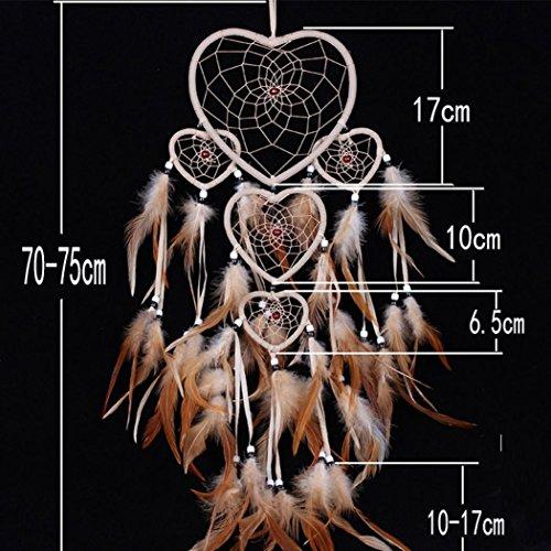 RIUDA 1PC Dream Catcher Circular Feathers Wall Hanging Decoration Decor Craft