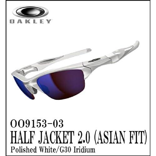【日本仕様モデル】OAKLEY【オークリー】サングラス HALF JACKET2.0 【ハーフジャケット2.0 アジアンフィット】Polished White/G30 Iridium OO9153-03