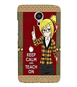 Fuson Plastic Printed Girly Quote Back Case Cover for Meizu MX5-D9849