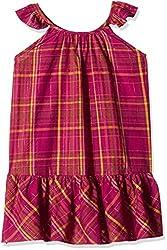 People Girls' Dress (P30602066436828_Purple_7-8 Yrs)