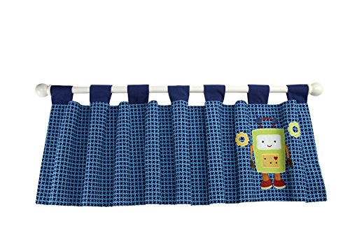NoJo Baby Bots Window Valance - 1