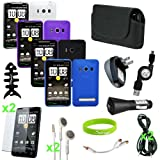 CrazyOnDigital New Accessory Kit 16 items for New HTC EVO 4G Wireless Cell  ....