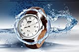 Mens Unique Roman Numeral Fashion Design Quartz Analog Waterproof Wrist Business Casual Watch with Stainless Steel Case, 164ft 50M 5ATM Water Resistant, Comfortable PU Leather Band - Brown