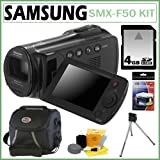 Samsung SMX-F50 with 65x Zoom Digital Camcorder in Black + 4GB Accessory Kit