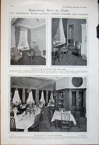 1906 Granville Club Hanover Dining Room Private Tables