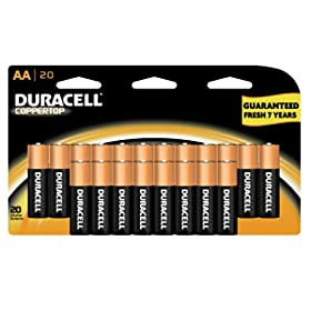 Duracell Batteries: Coppertop AA or AAA (20-count) $7.72
