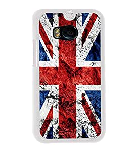 UK Flag 2D Hard Polycarbonate Designer Back Case Cover for HTC One M8 :: HTC M8 :: HTC One M8 Eye :: HTC One M8 Dual Sim :: HTC One M8s