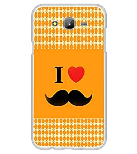 ifasho I love Moustache Back Case Cover for Samsung Galaxy On 7