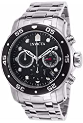 Invicta Men's 'Pro Diver' Quartz Stainless Steel Automatic Watch, Color:Silver-Toned (Model: 21920)