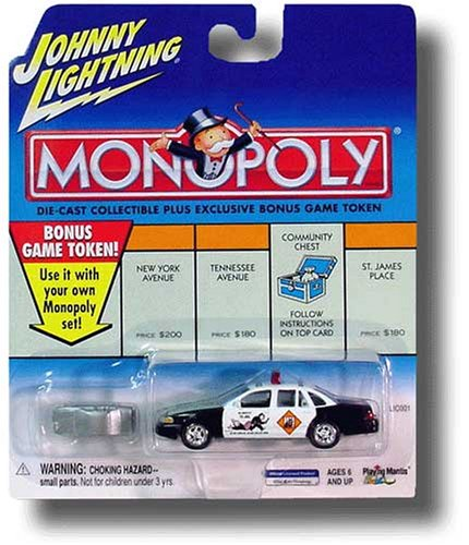 Buy Johnny Lightning 2001 Monopoly Do Not Pass Go 1997 Crown Victoria Car