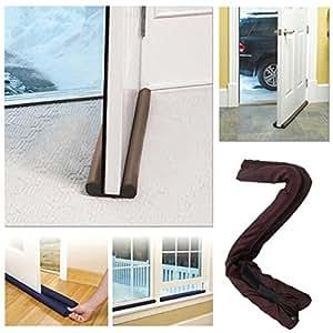 Petrice twin door draft stopper guard stop unwanted light for Door air blocker