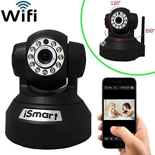 iSmart New Wireless WiFi HD IR Pan Tilt IP Smartphone CCTV Security Camera with NightVision and Motion Detect