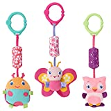 Bright Starts Pretty in Pink Stroller Toys, Chime Along Friends, Styles Will Vary
