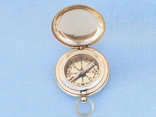 Captain's Brass Push Button Compass 3