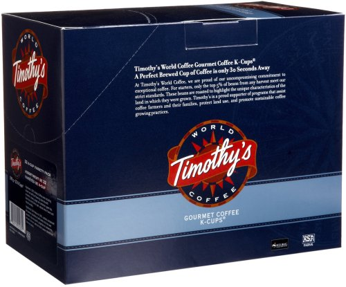 Timothy's World Coffee, Variety Pack, 22-Count K-Cups for Keurig Brewers (Pack of 2)