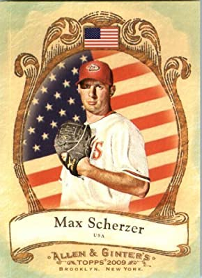 2009 Topps Allen & Ginter National Pride Baseball Card #NP49 Max Scherzer Arizona Diamondbacks