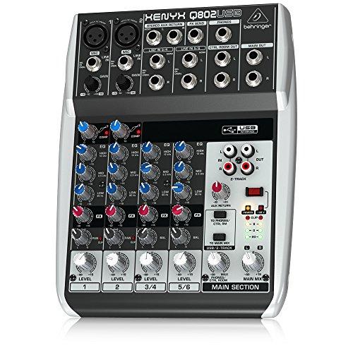 Behringer-Q802USB-Xenyx-Premium-8-Kanal-2-Bus-Mixer-mit-Mic-PreampsKompressorenBritish-EQs-und-USBAudio-Interface