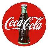Coca Cola Disc Porcelain Sign