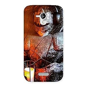 Impressive Knight Warrior Multicolor Back Case Cover for Micromax Canvas HD A116