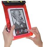 TrendyDigital WaterGuard Waterproof Case, Waterproof Cover for Nook eBook Reader from Barnes & Noble, Red Border