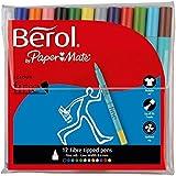 Berol S0376510 - Colour Fine Pen Assorted Pk12