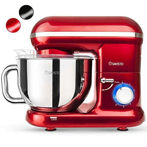 savisto-1260w-retro-food-stand-mixer-with-55l-bowl-splash-guard-dough-hook-whisk-beater-2-year-warra