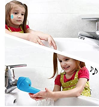 Hmost ®Cartoon Faucet Extender, Make Your Kids Love Hand Wishing ,Durable and Safe Faucet Extension Attachment (Blue Elephant)