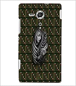 PrintDhaba Fastened Girl D-5646 Back Case Cover for SONY XPERIA SP (Multi-Coloured)