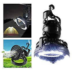 Kawachi 2 in 1 Portable Led Tent Camping fan Camping Light with Ceiling Fan Outdoor Hiking fishing lamp
