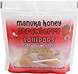 Pacific Resources Childrens Strawberry and Manuka Honey Lollipops, 120-gram (Strawberry)