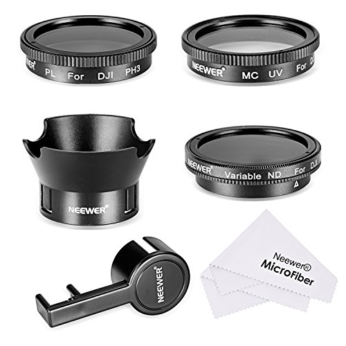Neewer-Filter-Accessory-Kit-for-DJI-Phantom-3-4K-Advanced-Professional-and-Standard-UV-Filter-CPL-Filter-ND2-400-Filter-Rose-Petal-Lens-Hood-Lens-Cap-Protector-Cleaning-Cloth