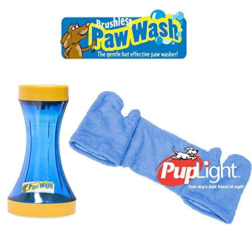 【アメリカPAWWASH】パウウォッシュブラッシュレスボトルS+カドリーミードライマイクロファイバータオルLセット