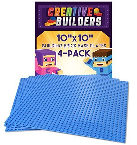 Creative Builders Building Brick Base Plates, 10X10-Inch, 4 Pack (Marvel Knights Vs System compare prices)
