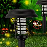 AOODU Electronic Insect Killer Mosquito Bug Zapper LED Solar Garden Lamp Kills with Switch