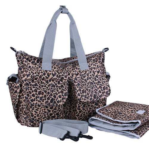 Guangzhouhuayan Multifunctional Nylon Colorful Baby Diaper Bag (Leopard Print) front-127372