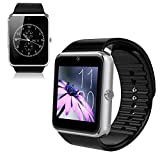 Soyan® GT08 Bluetooth Smart Watch GSM Quadband Wrist Watch Phone with SIM Card Slot and NFC for Android Samsung HTC LG(Full Functions) IOS iPhone 5/5s/6/plus(Partial functions) Black