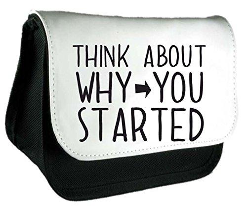 Think About perché è iniziato PopArtUK-Astuccio o Make Up Clutch Bag Misura unica nero