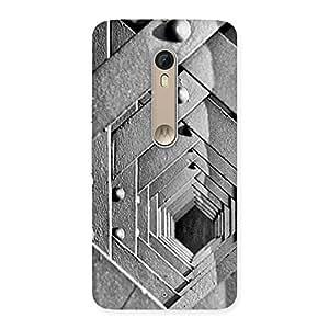 Premium Block Cage Back Case Cover for Motorola Moto X Style