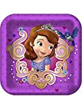 Disney Junior Sofia the First Square Dessert Plates (8)