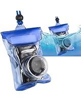 Insten® Waterproof Camera Case with Rope, Blue
