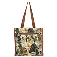 Banberry Designs Dog Canvas Travel Tote Shoulder Bag