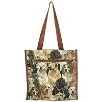 Banberry Designs Dog Canvas Travel Tote Shoulder Bag