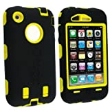 Otterbox Defender Series Case for iPhone 3G/3GS (Black/Yellow) - Bulk