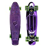 Mayhem Penny Style Board Anodized Purple Green 22 Plastic Cruiser Board