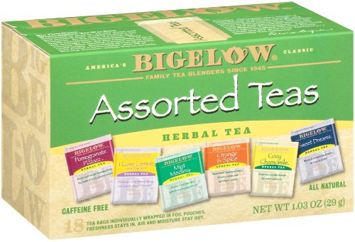 Bigelow 6 Assorted Herbal Teas, 18-Count Boxes (Pack of 6) (Mixed Tea Herbs compare prices)