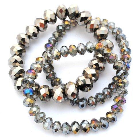 Designer Jewellery - Vintage Iridescent Silver Crystal Bracelet Set