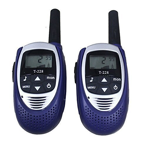 Topsung Portable Mini Walkie Talkies T228 UHF CB Radios Set PMR 8 Channels 2 Way Radio Interphone