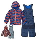 コロンビア スキー ウェア キッズ 子供 男の子 SC1092 SY1092 XXS,ブルー×オレンジ ジャケット パンツ 上下 セット