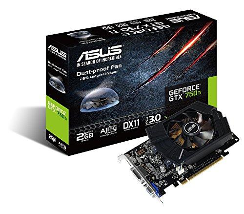 Asus Nvidia GeForce GTX 750 Ti 2GB GDDR5 Graphics Card (PCI Express 3.0, 2x DVI-D, VGA, HDMI, 128-bit, Dust-Proof Fan, Super Alloy Power) (Asus Geforce 750 Ti compare prices)